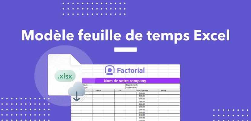 modele feuille de temps Excel