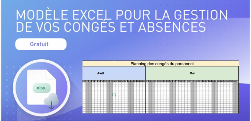 modèle Excel gestion congés