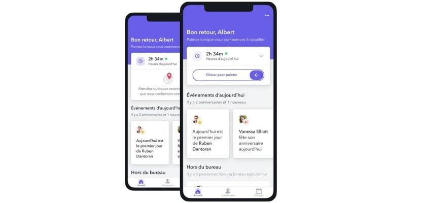 Controle des temps de travail a travers une application mobile