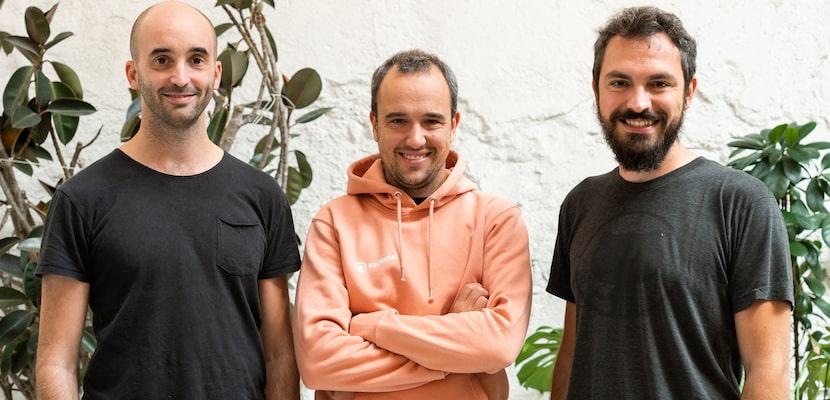 Co-fondateurs Pau, Jordi et Bernat